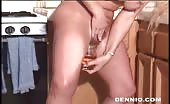 Dutch milf drinking her own piss
