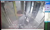 Chinese woman caught pooping in the elevator