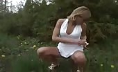 Hot milf peeing outdoor