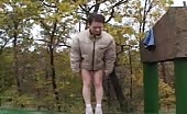 Hot girl peeing outdoor