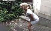 Swedish babe peeing