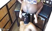 Black babe feeding her male slave