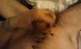 Quick scat masturbation made him cum