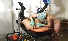 Weird enema play with a patient and her doctor