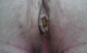 Yellow shit in very close up