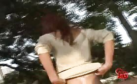 Japanese girl caught shitting in public