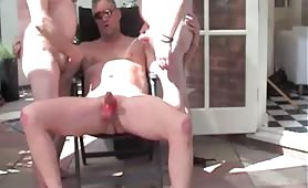 Old gay orgy with piss