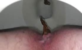 Shitting a lot in close up
