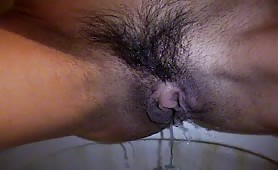 bloody pussy on the toilet period porn