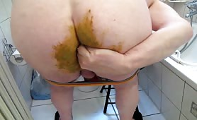 Heavy scat masturbation