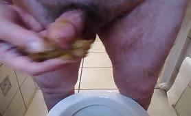 Masturbating with shit
