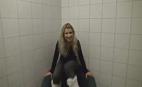 Vanessa Peeing in the chair