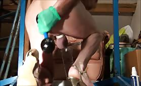 Anal fuck using a tube