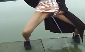taking a piss near the docks