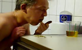 man eating his own poop amateur gay scat