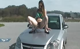 Pissing on the car