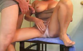 Pissing over her and fucking her