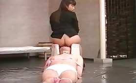 Asian lesbians shitting in each others mouth in this sexy scat