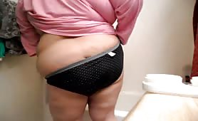 fat bbw amateur granny panty pooping