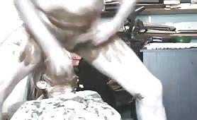 Nasty amateur scat slave sucking cock