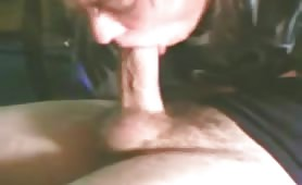 Sucking cock until she pukes
